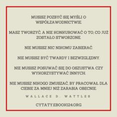 ✩ Wallace D. Wattles cytat o współzawodnictwie ✩ | Cytaty motywacyjne