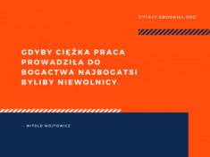 ✩ Witold Wójtowicz cytat o ciężkiej pracy i bogactwie ✩ | Cytaty motywacyjne
