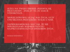 ✩ Witold Wójtowicz cytat o przeszkodach ✩ | Cytaty motywacyjne