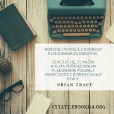 ✩ Brian Tracy cytat o planowaniu ✩ | Cytaty motywacyjne