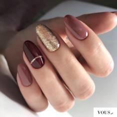 Złote paznokcie, paznokcie na święta