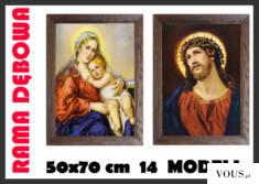 Obraz w ramie dębowej woskowanej, ręcznie składany może być wspaniałym podarunkiem lub trafioną  ...