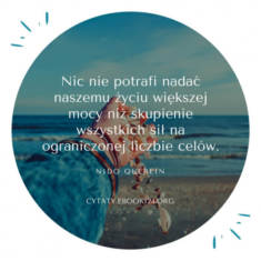 ✩ Nido Quebein cytat o skupieniu na ograniczonej liczbie celów ✩ | Cytaty motywacyjne