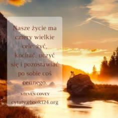 ✩ Steven Covey cytat o celu w życiu ✩ | Cytaty motywacyjne