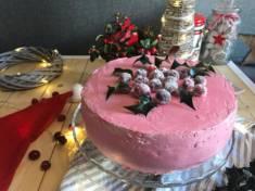 Tort żurawinowy z kremem z białej czekolady | AleTorcik! – przepisy na pyszne, domowe cias ...