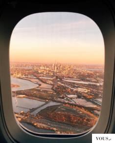 centrum miasta z samolotu