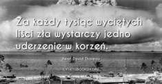 ✩ Henri David Thoreau cytat na temat zła ✩ | Cytaty motywacyjne