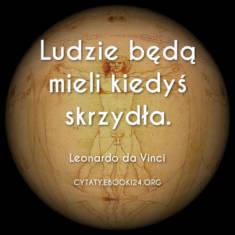✩ Leonardo da Vinci cytat o skrzydłach ✩ | Cytaty motywacyjne