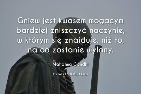 ✩ Mahatma Gandhi cytat o gniewie ✩ | Cytaty motywacyjne
