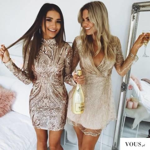 sukienki złote na sylwestra
