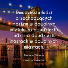 ✩ Wallace Stevens cytat o dwudziestu ludziach na moście ✩ | Cytaty motywacyjne