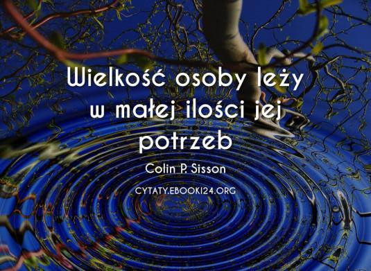 ✩ Colin P. Sisson cytat o wielkości ✩ | Cytaty motywacyjne
