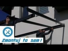 Montaż zadaszenia tarasowego – YouTube