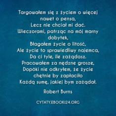 ✩ Robert Burns cytat o życiu ✩ | Cytaty motywacyjne