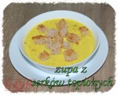 Zupa serowo-cebulowa – bardzo fajna delikatna zupka z serków topionych zrobiona na bulioni ...