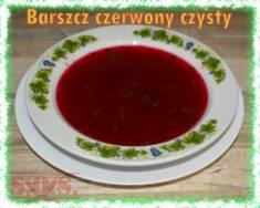 Barszcz czerwony czysty | Blog Kulinarny Świetny nie tylko od święta, ale też na co dzień do obi ...