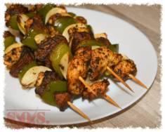 Szaszłyki z kurczakiem | Blog Kulinarny Szaszłyki z kurczakiem i pieczarkami – smaczne&#82 ...