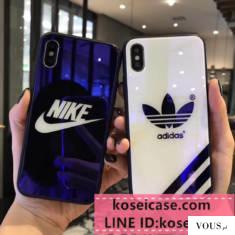 iphonexs max/xs ケース ガラス風 お洒落 ナイキ nike iPhonex ケース iPhonexs/8 plus スマホケース  ...