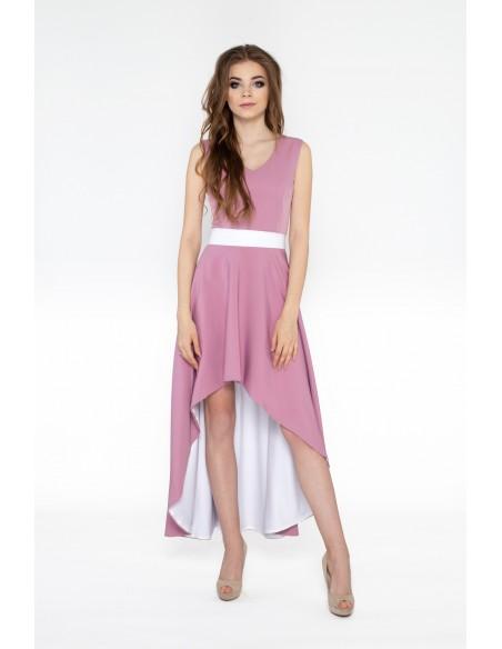 Asymetryczna sukienka w kolorze lawendy – rozmiar XS Sprawdź inne rozmiary i modele na 4my ...