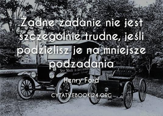 ✩ Henry Ford cytat o trudnych zadaniach ✩ | Cytaty motywacyjne