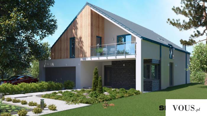 SEJ-PRO 012 ENERGO Interesujący projekt domu w stylu nowoczesnej stodoły z użytkowym poddaszem.  ...