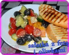 Sałatka z fetą i oliwkami   Blog Kulinarny