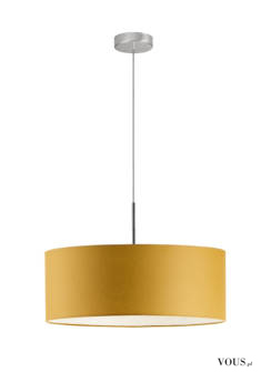 Lampa wisząca Sintra to niezwykle elegancki żyrandol z tkaninowym abażurem w kształcie walca. Je ...