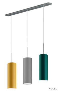 Lampa wisząca Borneo to oryginalna lampa o podłużnym kształcie i smukłej linii. Połączenie trzec ...