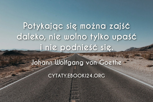 ✩ Johann Wolfgang von Goethe cytat o wytrwałości ✩   Cytaty motywacyjne