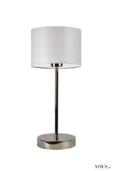 Lampka Stołowa Nicea to typowe oświetlenie inspirowane hotelowymi wnętrzami. Stabilna konstrukcj ...