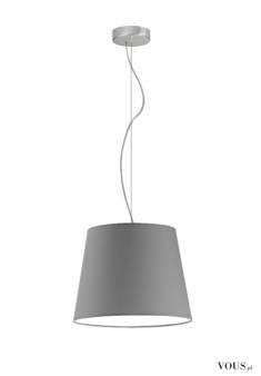 Lampa wisząca Tunis to klasyka w nowoczesnym wydaniu. Abażur w kształcie stożka podwieszony na s ...