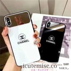 シャネル iphonexs/10s max ケース 鏡面 ブランド chanel iphone Xs/Xr/10/X ケース 男女ペア 人気 iph ...