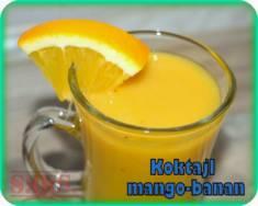 Koktajl z mango i banana | Blog Kulinarny