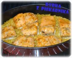 Ryba pieczona na ryżu | Blog Kulinarny