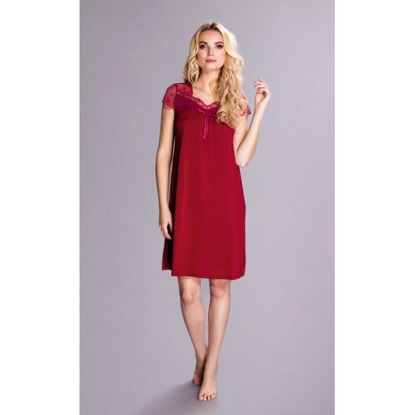 Elegancka koszula nocna Dolce Vino 6279 w burgundowym kolorze – Pradlo sklep internetowy