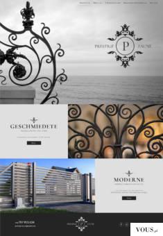 Prestige Zäune – strona internetowa dla firmy wykonującej ogrodzenia https://prestige-zaune.de