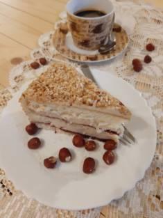 Tort chałwowy z konfiturą porzeczkową | AleTorcik! – przepisy na pyszne, domowe ciasta, ci ...