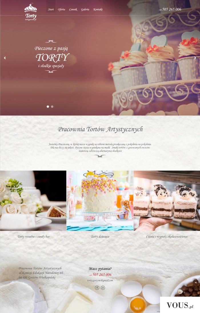 Pracownia tortów artystycznych – strona internetowa http://www.tortygorzow.pl/