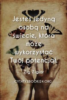 ✩ Zig Ziglar o wykorzystywaniu potencjału ✩ | Cytaty motywacyjne