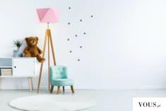 Lampa podłogowa LAGOS to najlepsza forma oświetlenia do pokoju najmłodszych. Abażur imitujący di ...