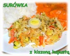 Surówka z kiszonej kapusty(wersja 2) – Kulinarne S.O.S.