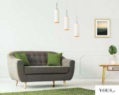 3 punktowa lampa wisząca BORNEO GOLD to nowoczesna forma oświetlenia. Trzy abażury w kształcie t ...