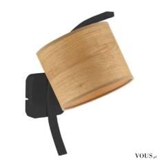Lampa ścienna TEKSAS ECO przeznaczona jest dla zwolenników funkcjonalności. Fornirowy abażur w n ...