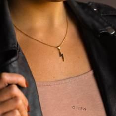 Naszyjnik błyskawica złoty / prezent na dzień kobiet / niezobowiązujące prezenty