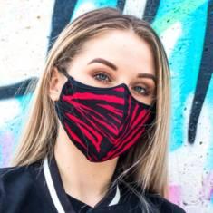 Maska ochronna czerwony tygrysek młodzieżowa poleca sklep pradlo