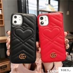 グッチ iPhone se/11pro maxケース アイフォン11/11Pro保護カバー Gucci 革製 ハート iPhone Xs/XS MAX ...