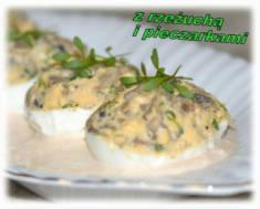 Jajka faszerowane pieczarkami i rzeżuchą – Kulinarne S.O.S.