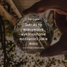 ✩ Zig Ziglar cytat o sukcesie ✩ | Cytaty motywacyjne