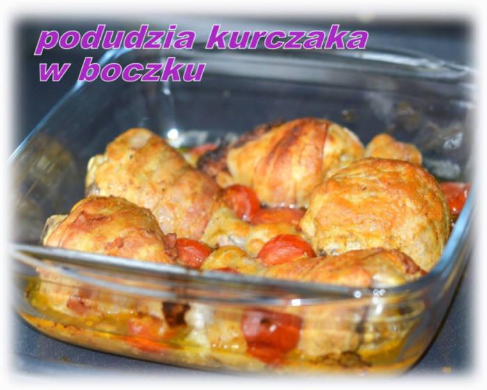 Pałki z kurczaka pieczone w boczku i miodowo-musztardowej marynacie – Kulinarne S.O.S.