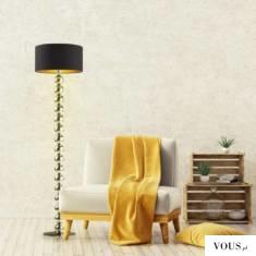 Lampa stojąca GIZA GOLD zachwyca nowoczesnym designem. Walorem tej lampy jest przede wszystkim j ...